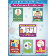Covid-19 Safety Charts for Outdoor (23x32cm)