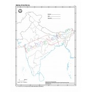 India with States - 100 Sheets Pad (27x22cm)