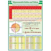 Trigonometric Ratios and Values Chart (70x100cm)