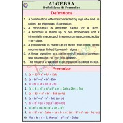 Algebra Definitions and Formulae Chart (50x75cm)