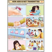 How Aids is not Transmitted Chart (70x100cm)