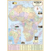 Africa Political Map (70x100cm)