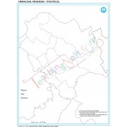 Himachal with Districts  Map - 100 Sheets Pad (27 × 22 cm)