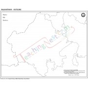 Rajasthan Outline Map -100 Sheets Pad (27x22cm)