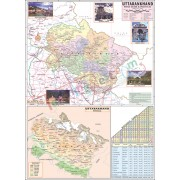 Uttarakhand Political Map (70x100cm)